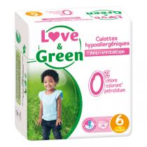 Love & Green - Pack 4x16 Culottes apprentissage T6 +16kg