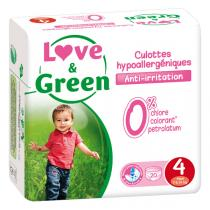 Love & Green - Pack 4x20 Culottes apprentissage T4 7-14kg
