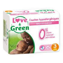 Love & Green - Pack 4x32 Couches hypoallergéniques T3 4-9Kg