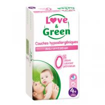 Love & Green - Pack 4x42 Couches hypoallergéniques T4+ Jumbo 9-20kg