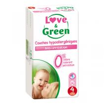Love & Green - Pack 4x46 Couches hypoallergéniques T4 Jumbo 7-14Kg