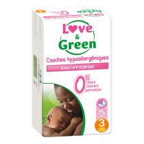Love & Green - Pack 4x52 Couches T3 Jumbo 4-9Kg