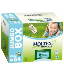 Moltex - 64 Couches T5 Eco-junior 11-25 kg Jumbo Box