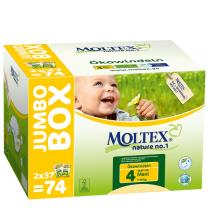 Moltex - 74 Couches T4 Eco-Maxi 7-18kg Jumbo Box