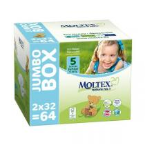 Moltex - Pack 4 x 64 Couches T5 Eco-junior 11-25kg Jumbo Box