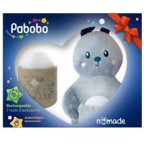 Pabobo - Coffret cadeau veilleuse nomade et son doudou fute
