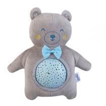 Pabobo - Projecteur d'étoiles à piles peluche ourson bleu