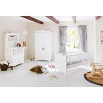 Pinolino - Chambre Florentina 3pc - lit, commode et étagère adaptable