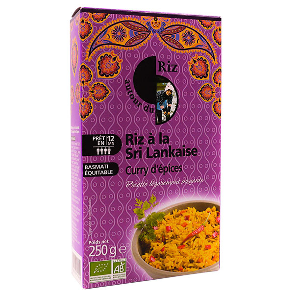 Autour du Riz - Riz à la Sri Lankaise curry d'épices 250g