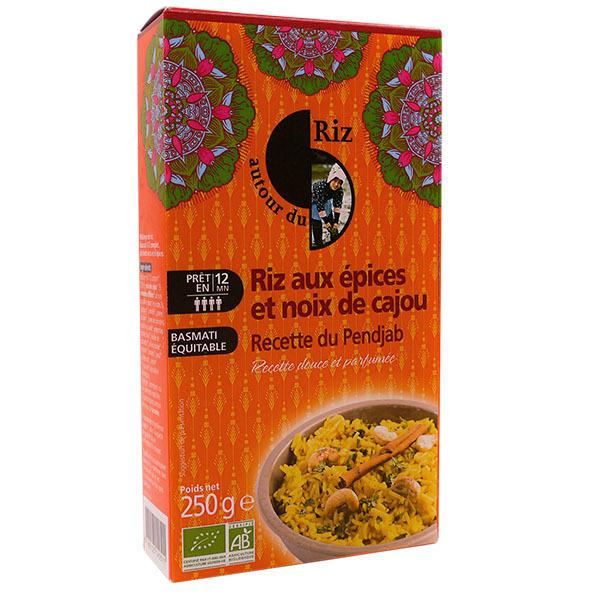 Autour du Riz - Riz aux 7 épices et noix de cajou Pendjab 250g