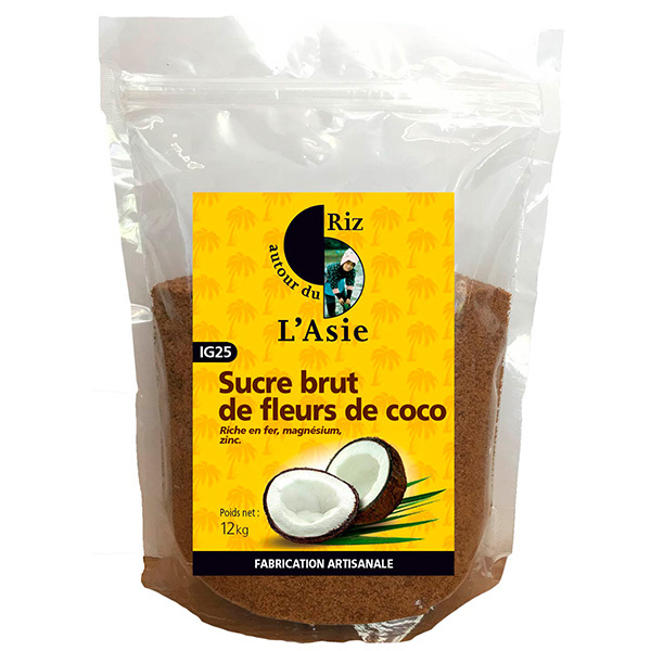Autour du Riz - Sucre brut de fleurs de coco 12kg