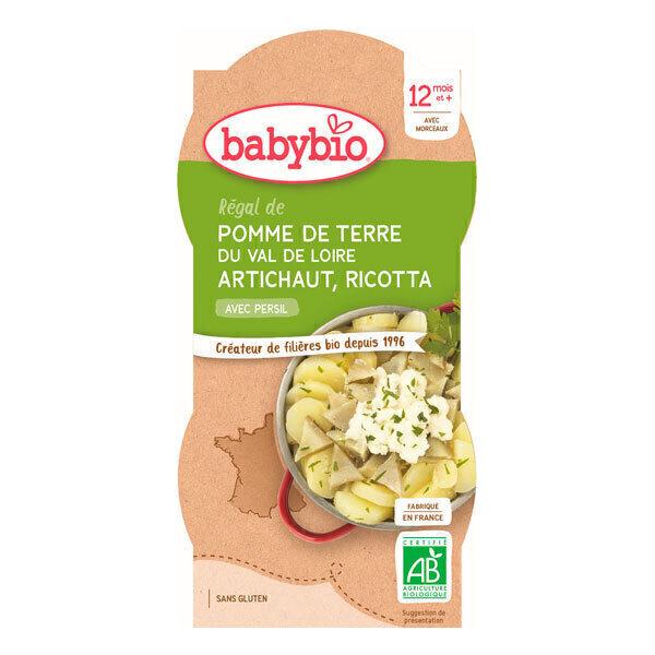 Babybio - Bols pomme de terre artichaut ricotta 2 x 200g - Dès 12 mois