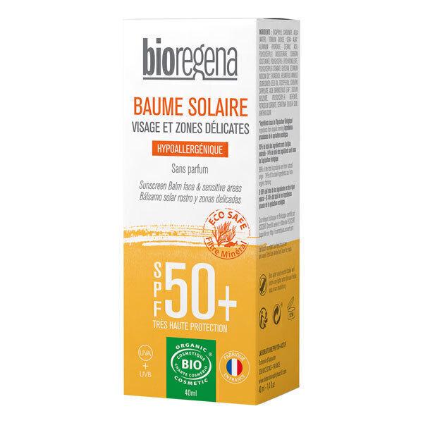 Bioregena - Baume solaire SPF50+ visage et zones sensibles - 40ml