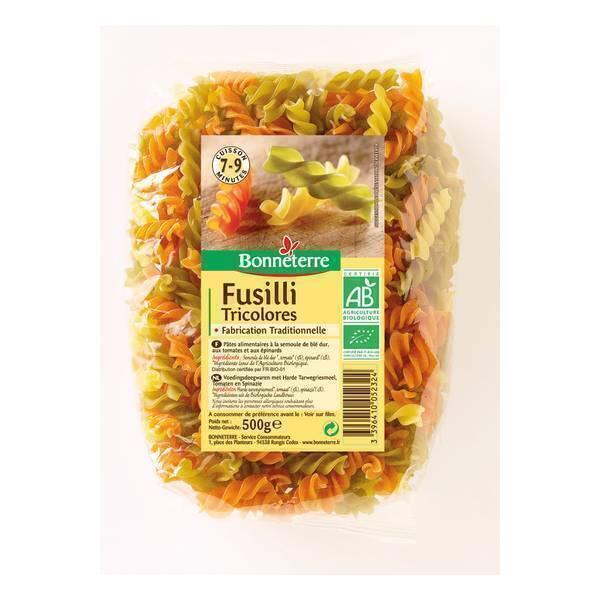 Bonneterre - Fusilli tricolores 500g