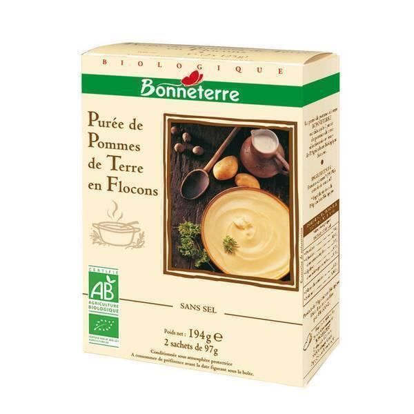 Bonneterre - Purée de pommes de terre en flocons 194g