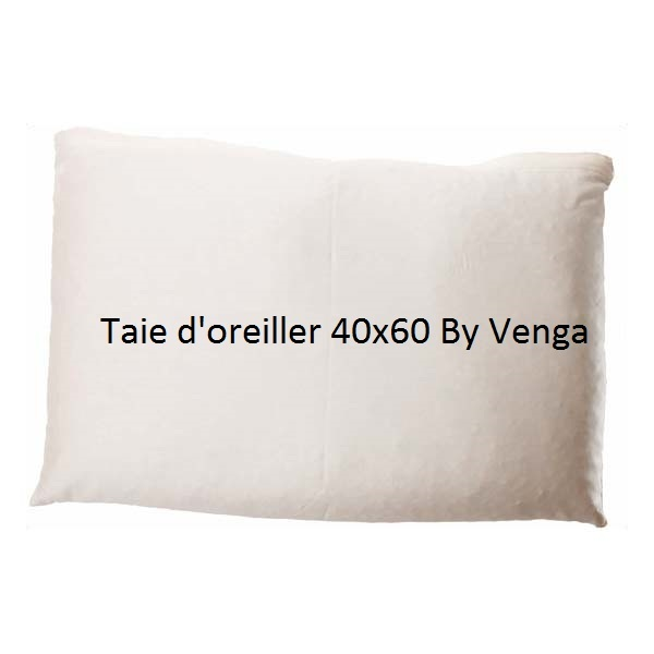 taie d 39 oreiller 40 x 60 cm avec boutons by venga acheter. Black Bedroom Furniture Sets. Home Design Ideas