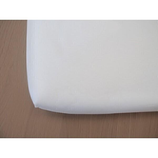 Kadolis - Drap Housse Bambou Blanc 60x120cm