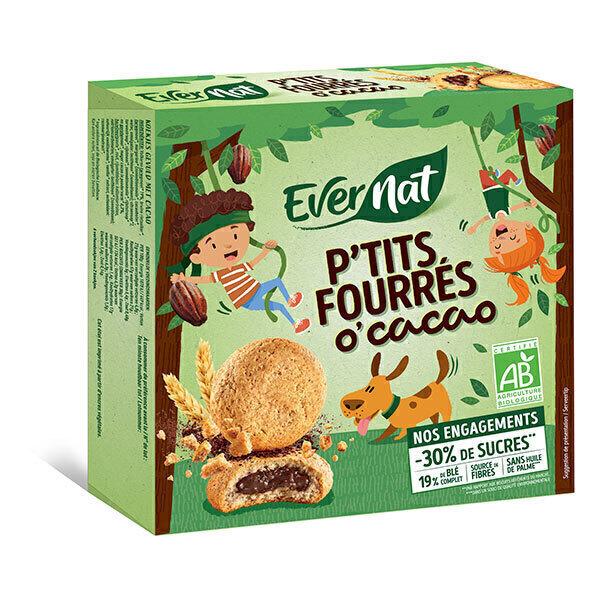 Evernat - P'tits fourrés O'cacao 180g