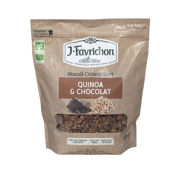 Favrichon - Muesli quinoa chocolat - 450g