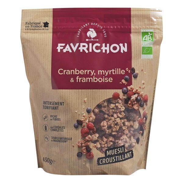 Favrichon - Muesli Croustillant Cranberry Myrtille Framboise - 450g
