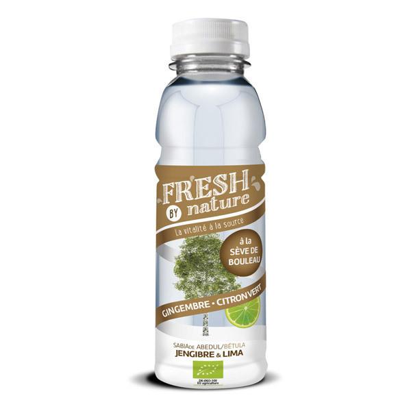 Fresh By Nature - Boisson sève de bouleau gingembre citron vert 33cl