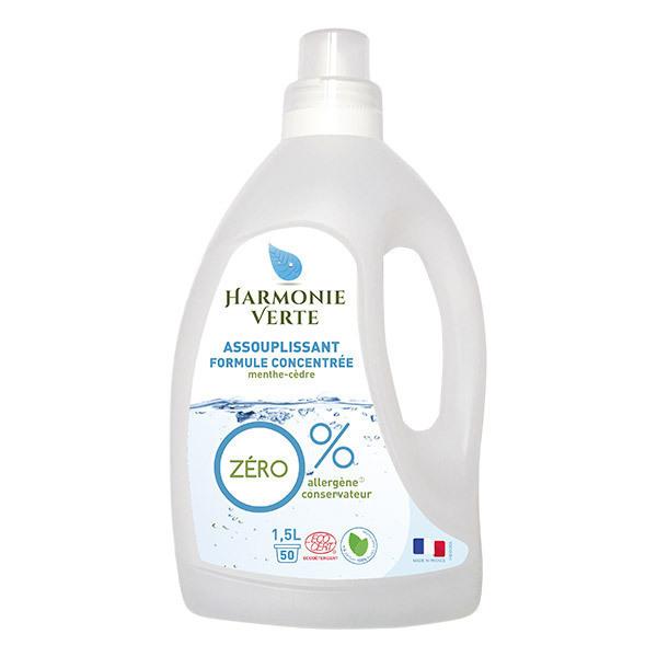 Harmonie Verte - Assouplissant 0% Menthe Cèdre 1,5L