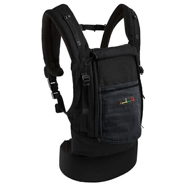 Je porte mon bébé - Porte Bébé PhysioCarrier Coton - Noir poche Anthracite.  Loading zoom 040d34f40c8
