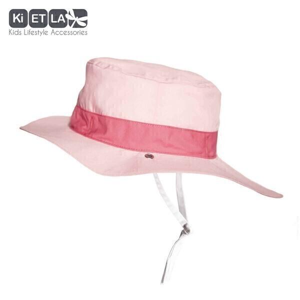 Ki ET LA - Chapeau KAPEL Anti-UV Réversible Panama Pink 2/4ans