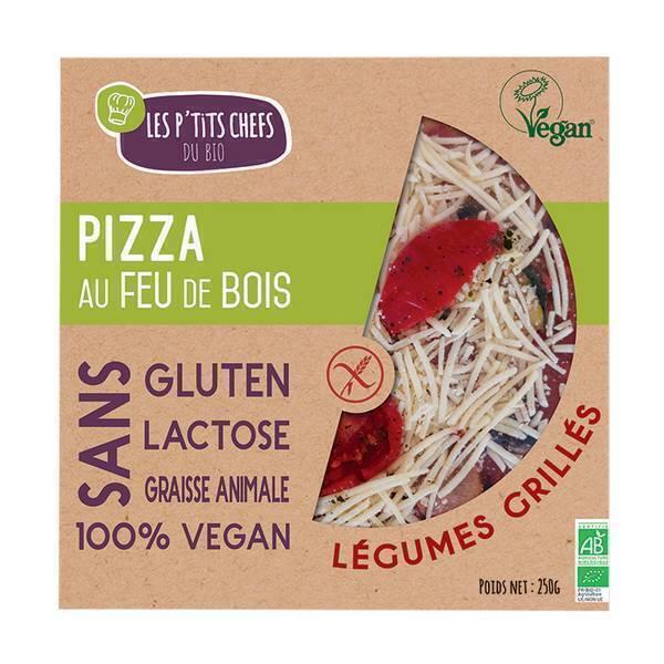 Les P'tits Chefs du Bio - Pizza légume grillés sans gluten Vegan - 250g