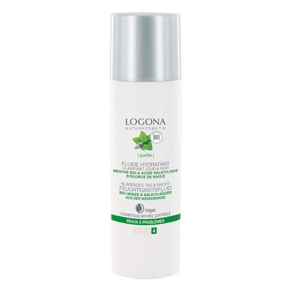 Logona - Fluide hydratant clarifiant Acide salicylique 30ml