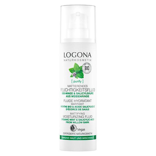 Logona - Fluide hydratant menthe et acide salicylique 30ml