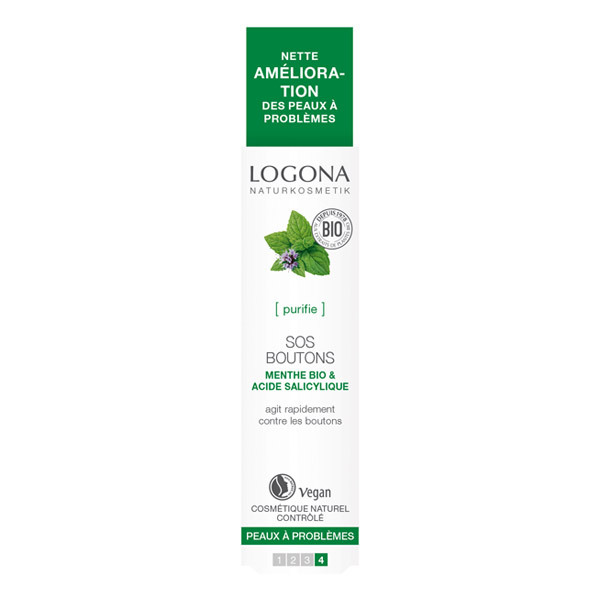 Logona - SOS boutons Menthe bio Acide salicylique 6ml