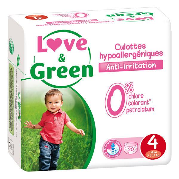 Love & Green - Pack 4x20 Culottes apprentissage T4 7-14kg