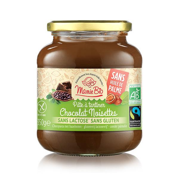 Mamie Bio - Pâte à tartiner chocolat noisette sans lactose 350g