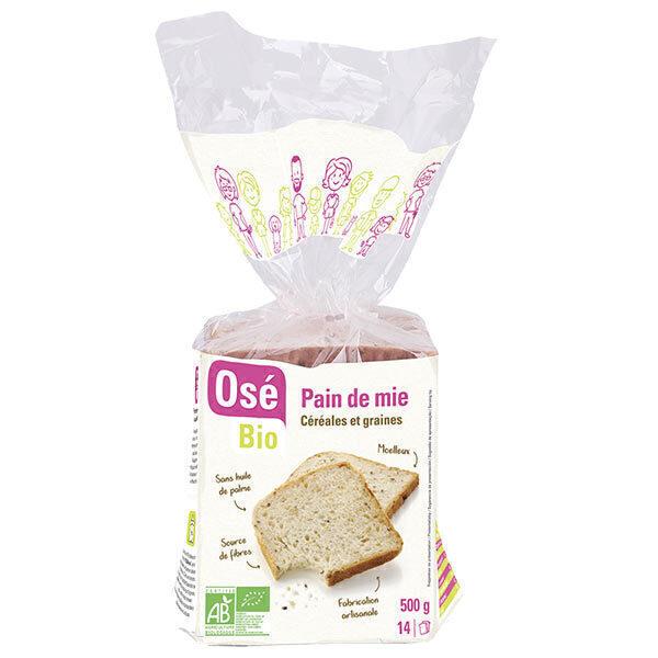 Osé Bio - Pain de mie céréales et graines - 500g
