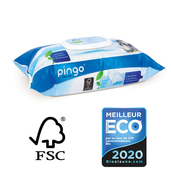 Pingo - 80 lingettes Bébé Aloe Vera