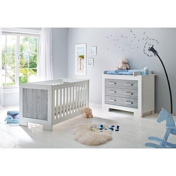 Chambre b b lolle 2 pi ces lit et commode pinolino la r f rence bien tre bio - Commode chambre bebe ...