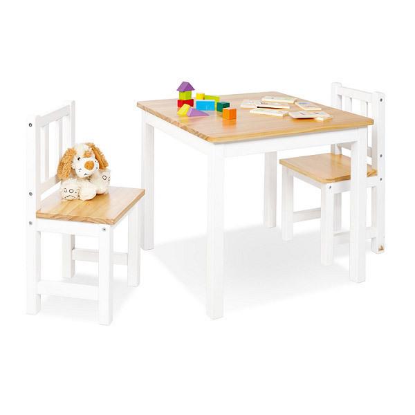 Table et chaises enfant fenna bois massif pinolino - Table et chaise enfant bois ...