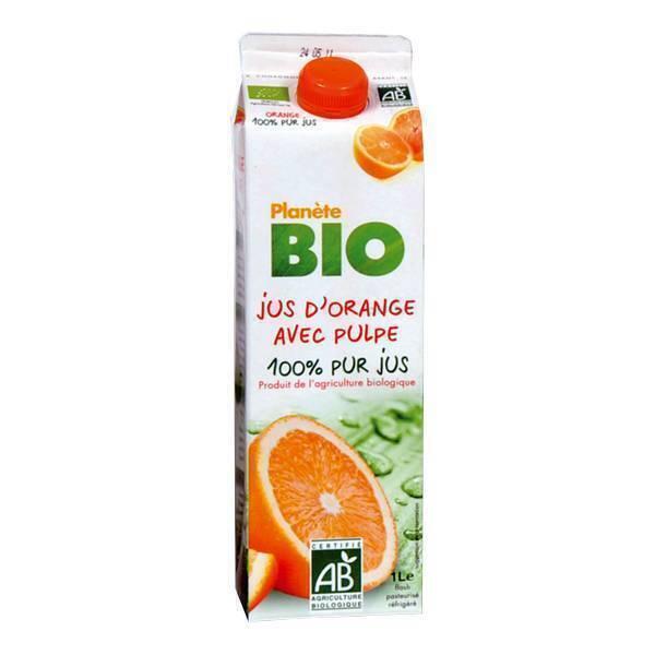 Planète Bio - Jus d'orange avec pulpe BIO 1L