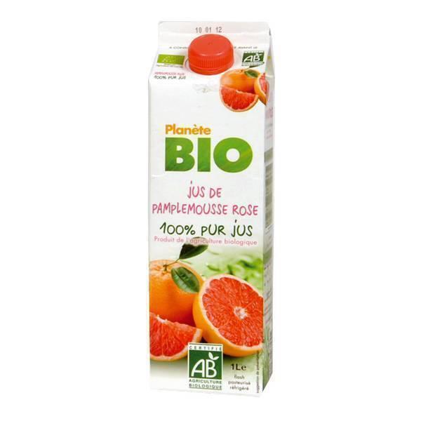 Planète Bio - Jus de pamplemousse rose BIO 1L