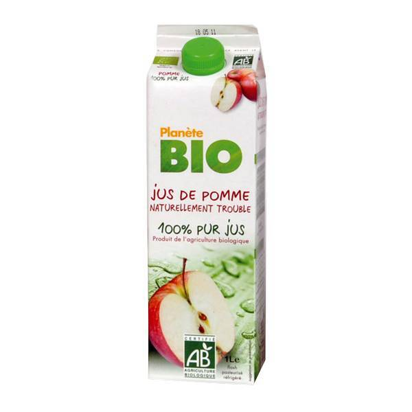 Planète Bio - Jus de pomme BIO 1L