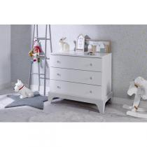 Bébé Provence - Commode Paris Blanc/Gris