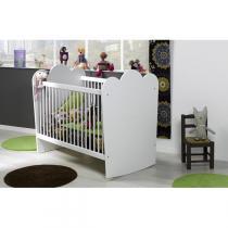 Bébé Provence - Lit bébé Linéa barreaux Blanc 60x120cm