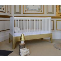 Bébé Provence - Lit bébé Paris 70x140cm Blanc-Or