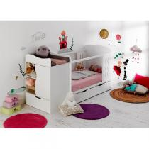 bebe-provence - Lit Belem Blanc 70x140-90x190cm