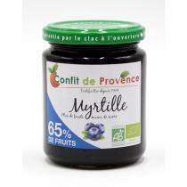 Confit de Provence - Spécialité Bio 65% de fruits - Myrtille 300g