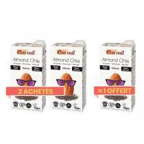 EcoMil - Offre Lait Amande Chia sans sucre bio 1L 2+1 Offert