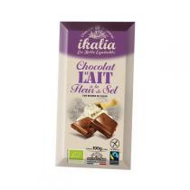 Ikalia - Chocolat au lait à la fleur de sel de Guérande - 100g