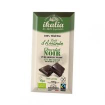 Ikalia - Chocolat Noir 55% au lait d'amande - 100g