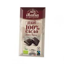 Ikalia - Chocolat noir 100% sans sucre - 100g
